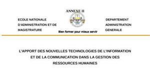 L'apport des NTIC dans la gestion des ressources humaines