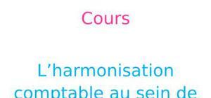 Harmonisation comptable au sein de l'union européenne