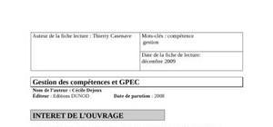 Fiche de lecture GPEC