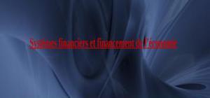 Systemes financies et financement de l'économie