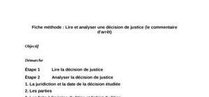 Analyse d'une décision de justice