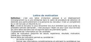 Lettre de motivation méthode