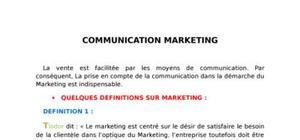 Communication marketing