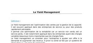 Les principes du yield management