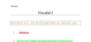 Cours de fiscalité (1ère année)