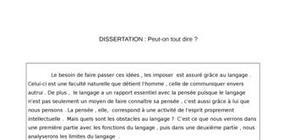 Dissertation philosophie exemple gratuit