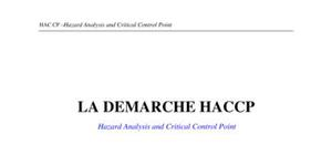 La demarche haccp-hazard analysis and critical control point