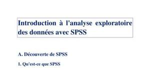 Introduction a spss
