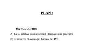 Le cadre juridique de la microfinance