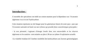 Le climat des ide en algerie