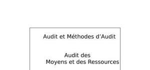 Audit des moyens et des ressources