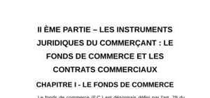 Les instruments juridiques du commerçant : le fonds de commerce et les contrats commerciaux