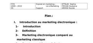 Exposé  sur le e-marketing