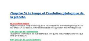 Le temps et l'évolution géologique de la planète