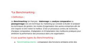 Le Benchmarking