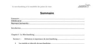 Le merchandising & la rentabilité des points de vente(modifié)