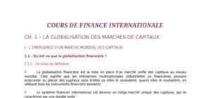 Cours de finance internationale