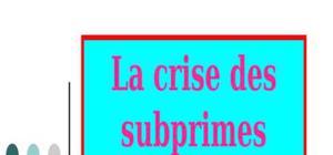 Crises des subprimes