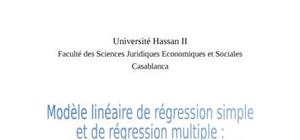 Modèle lineaire de regression simple et de regression multiple analyse critique des hypothèses