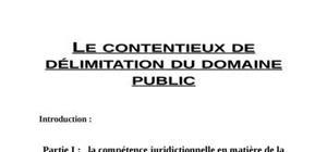 Le contentieux de délimitation du domaine public