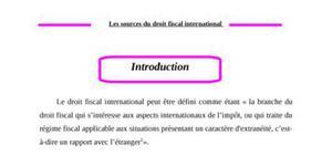 Sources du droit fiscal international
