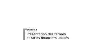 Les ratios financer et leur utilité