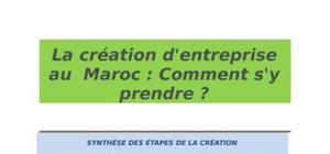 La création d'entreprise au  maroc