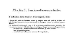 Structure d'une organisation