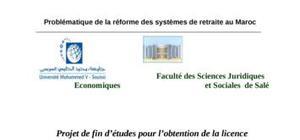 Problèmatique de la réforme du système de retraite au maroc