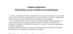 Définition et typologie des modèles économiques