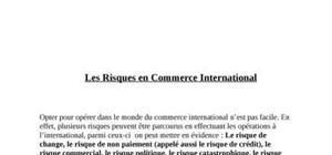 Riques en commerce international