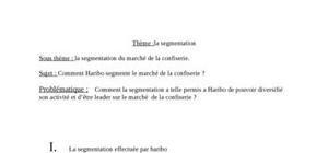 Haribo et la segmentation