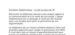 Entretien téléphonique : un job au bout du fil.
