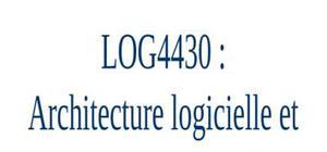 Architecture logicielle et conception avancée