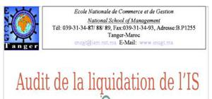 Audit de la liquidation de l'is