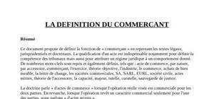 Droit du commerce - définition du commerçant