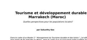 Tourisme et développement durable à