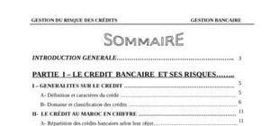 La gestion du risque de crédit
