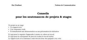 Conseils  pour les soutenances de projets & stages