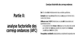 Afcm analyse factorielle des correspondances multiples