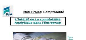 Comptabilité de gestion ou comptabilité analytique