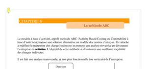 La  methode à base activité (methode abc)