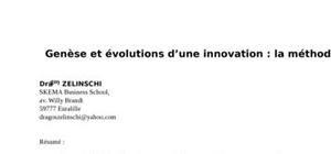 Genèse et évolutions d'une innovation : la méthode abc
