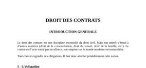 Droits des contrats