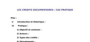 Le crédit documenatire