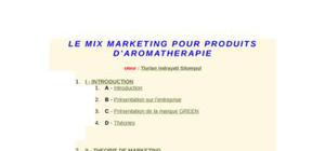 Le mix marketing pour produits