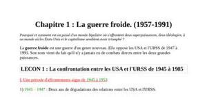 La confrontation entre les usa et l'urss de 1945 à 1985