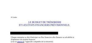 Le budget de trésorerie et les états financiers prévisionnels