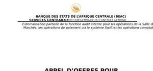 Appel d'offre pour externalisartion audit interne