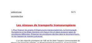Les réseaux des transports transeuropéens